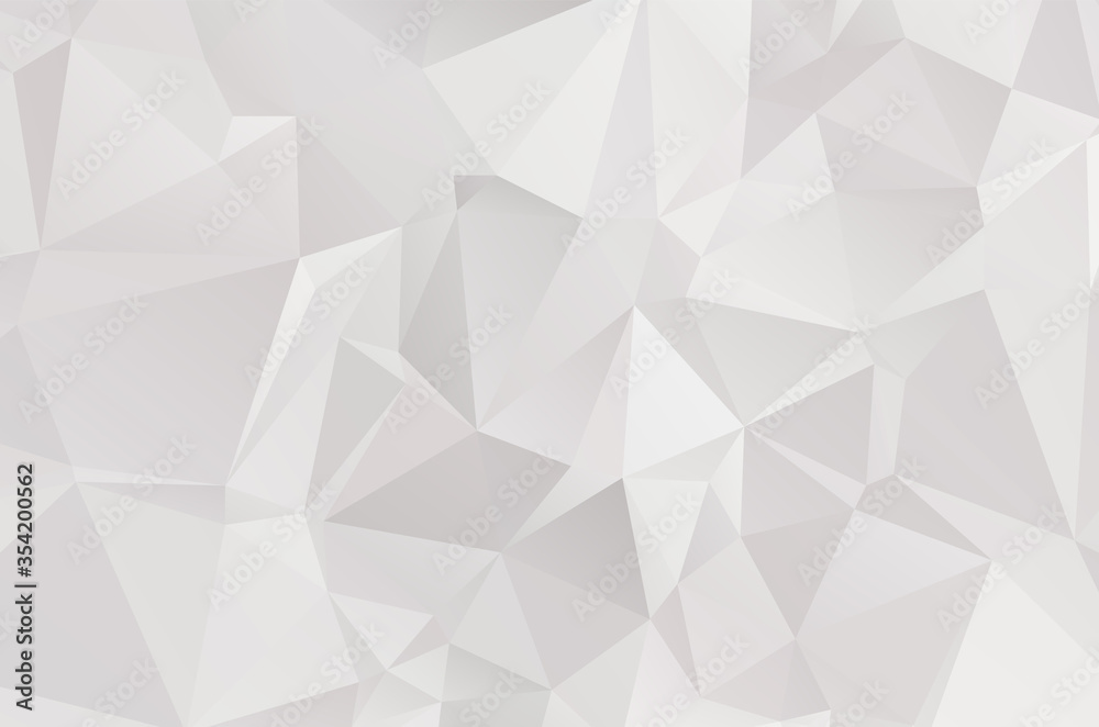 Fototapeta Abstract Lowpoly vector Gray background. Template for style design