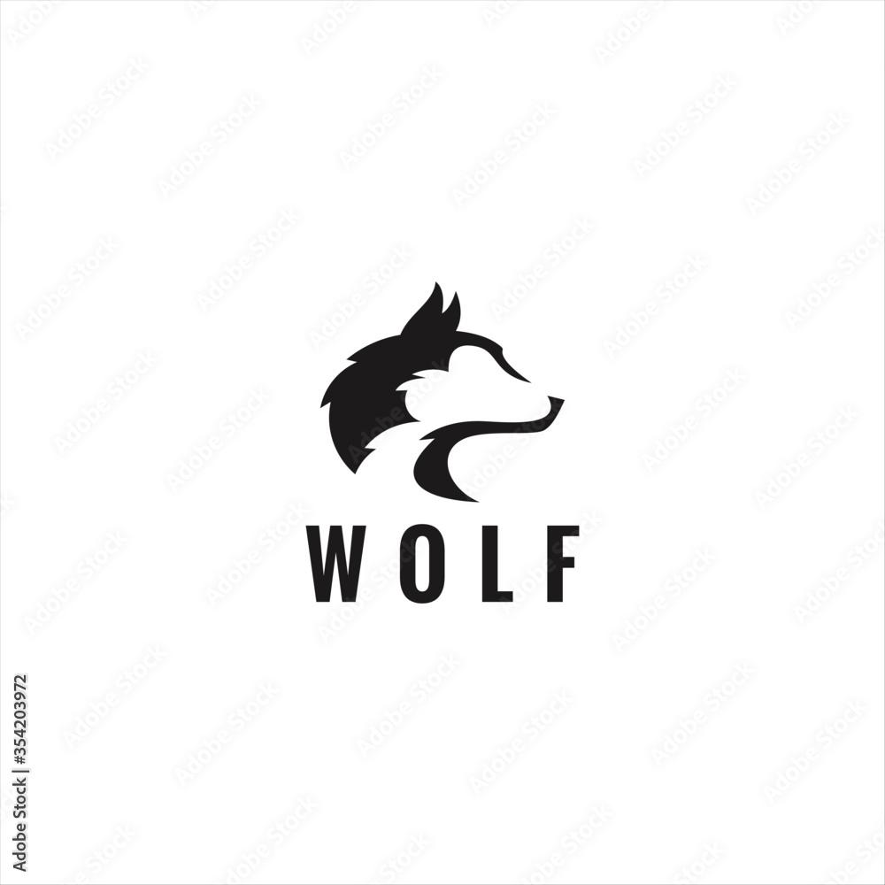 Fototapeta Wolf head vector logo graphic modern abstract