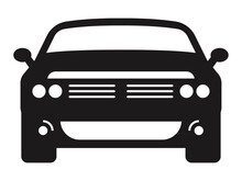 Car / Automobile Flat Icon For Apps Or Website