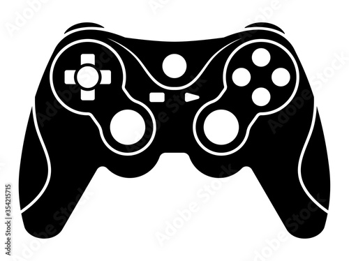 Xbox video game controllers or gamepad flat icon for apps and websites Poster Mural XXL