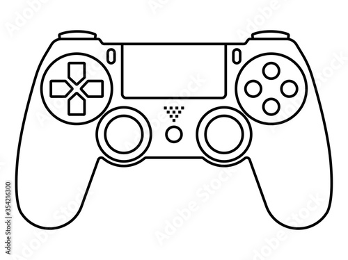 Cuadros en Lienzo video game ps4 controllers / gamepad -line art icons for apps and websites