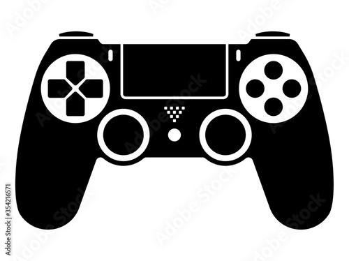Video game ps4 controller / gamepad flat icons for apps and websites Tableau sur Toile