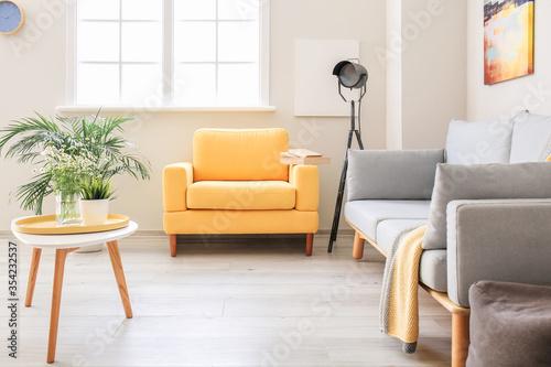 Carta da parati Interior of modern stylish living room