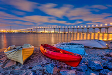 Colorful Dinghy Boats On A San...