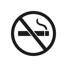 Icon Of No Smoking Sign. Warni...