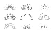 Sunburst Icon. Sun Burst With ...