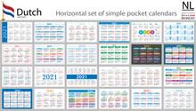 Dutch Horizontal Pocket Calendar For 2021