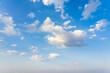 Leinwandbild Motiv Beautiful blue sky and clouds with daylight natural background.