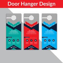 Door Hanger Template, Set Of D...