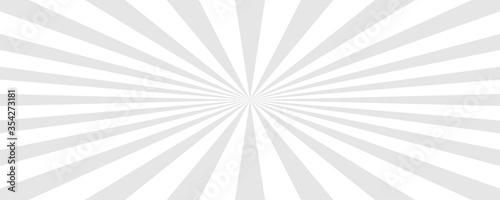 Obraz na plátne Sun rays background. Sun rays white. Vector illustration