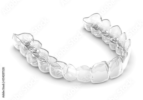 Obraz 3d render of invisalign removable and invisible retainer - fototapety do salonu