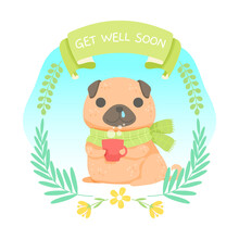 Cute Dog Wishing Get Well Soon