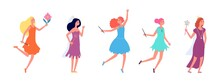 Fairy Ladies. Cartoon Princess...