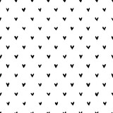 Hand drawn heart seamless pattern. Doodle hipster simple background about love for Valentines day. Trendy simple texture with tiny little hearts. Perfect for wrapping, fabric, wallpaper. - 354290975