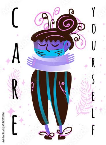 Stock vector illustration with coronavirus concept Canvas Print