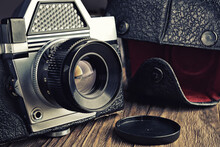 Old Vintage Photo Camera And C...