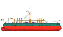 Italian Battleship Italy Comba...