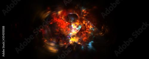 Fotografie, Obraz Gas explosions spitting fire spread