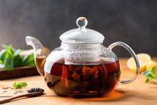 Black Tea Brewed In Glass Tea ...