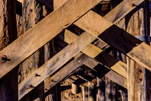Diagonal Wooden Beams Are Used...