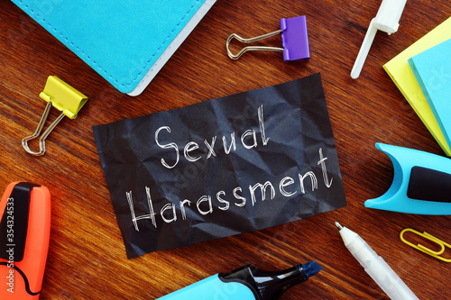 Sexual Harassment is shown on the conceptual business photo Canvas Print