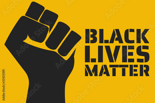 Obraz Black Lives Matter concept. Template for background, banner, poster with text inscription. Vector EPS10 illustration. - fototapety do salonu