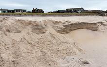 Beach Storm Damage On Fire Islands National Sea Shore