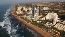 Durban, Kwa-Zulu Natal / South Africa - 06/12/2010 - Aerial Photo Of Umhlanga Lighthouse And Beachfront