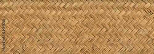 Fotografia Woven bamboo mat texture banner