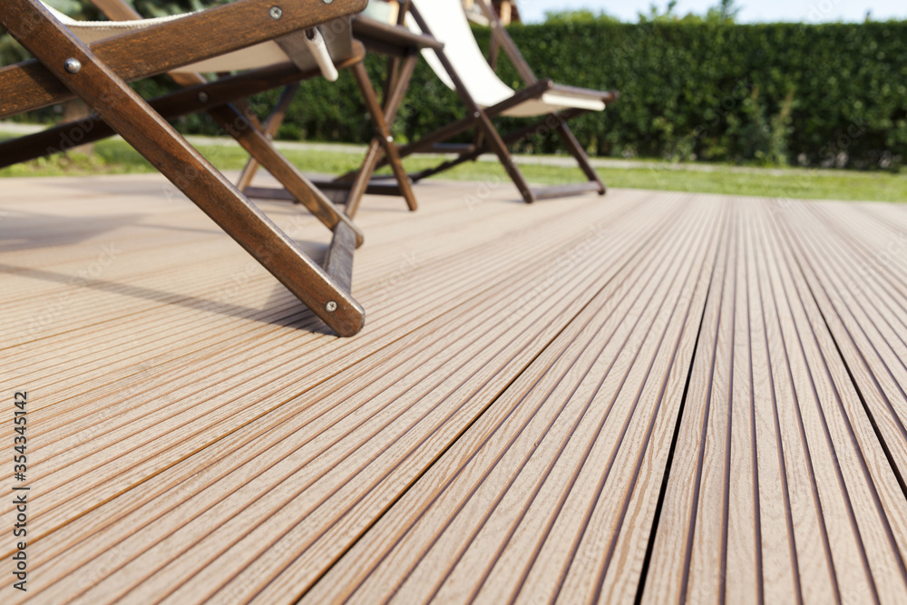 Fototapeta wooden decking outside floor - obraz na płótnie