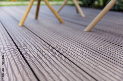 Fototapeta wooden decking outside floor obraz na płótnie