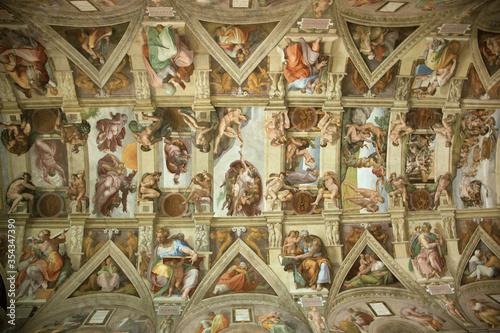 Obrazy Michał Anioł Buonarotti  sistine-chapel-ceiling