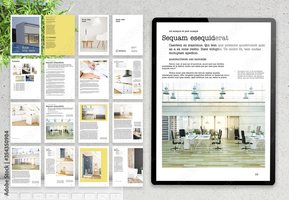 Fototapeta Digital Brochure Architecture Reference Layout