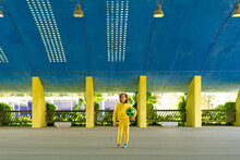 Portrait Of Girl In Yellow Tra...