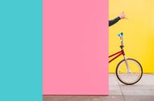 Boy With BMX Bike, Hiding Behi...