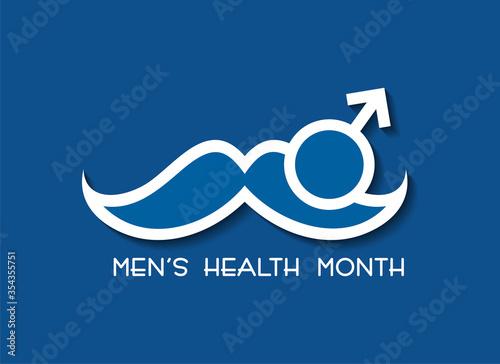Obraz Vector illustration for men's health awareness month - fototapety do salonu