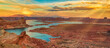 canvas print picture - Lake Powell dusk landscape, Utah/Arizona, USA.