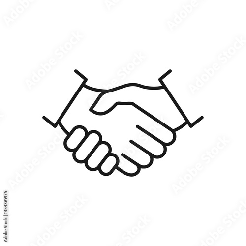 Handshake line icon. Business agreement concept. Vector illustration isolated on white.