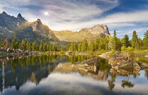 Ergaki Ridge Nature Park. Krasnoyarsk region Russia Canvas