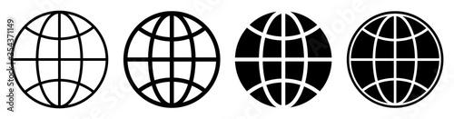 Fototapeta Globe icon set. Vector illustration obraz