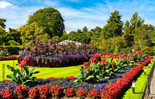 Flowers at Kew Royal Botanic Gardens in London, England Canvas
