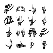 Icons Pack Of Skeleton Hands
