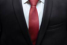 Closeup Of Black Business Suit...