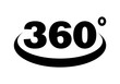 Three hundred and sixty sign on white background Drawing by Illustration. 360 sign