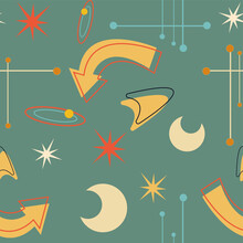Seamless 50's Space Pattern
