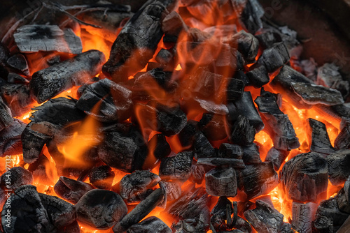 Photo charcoal fire that you ablaze