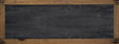 School background banner panorama - Empty blank old anthracite blackboard chalkboard texture with rustic wooden frame and space for text