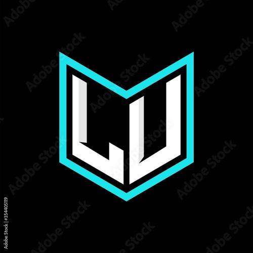 LU initial logo monogram designs modern templates Fototapete