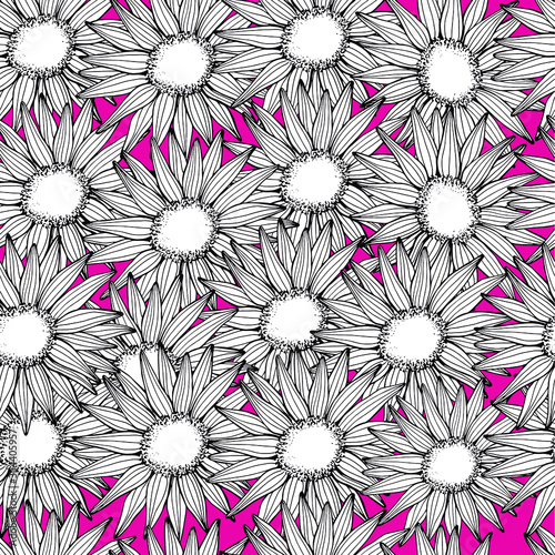 Photo Sunflowers seamless pattern