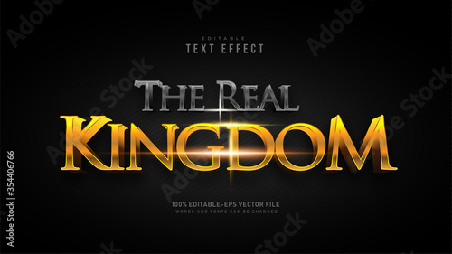 The Real Kingdom Text Effect Wallpaper Mural